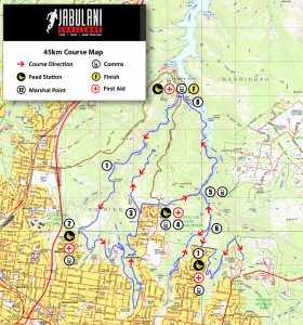 45km Course Map