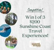 $200 Sunshine Coast Travel Experience To Be Won!